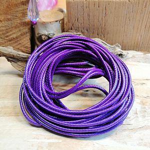 5 m Perlschnur Paracord 2 mm gewachst Polyester lila violett