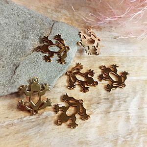 Kettenanhänger Origami Katzenkopf gold 26 mm