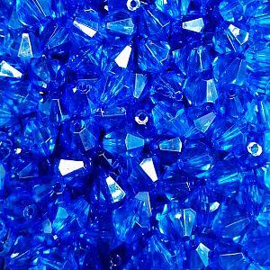 10 große faceted Rhomben Kunststoffperlen blau 14 mm