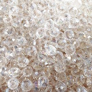20 Glasperlen geschliffen facettiert Rondelle 8 mm transparent
