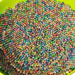 100 Wasserperlen ohne Loch Acrylkugeln pastell bunt 6 mm