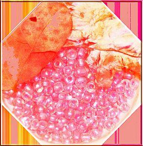 20 g Glasperlen Rocailles innen rosa 3-4 mm Perlenset