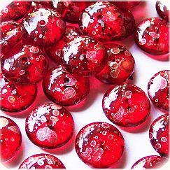 Perlenset 20 schöne fancy Kinderperlen rot 11 mm
