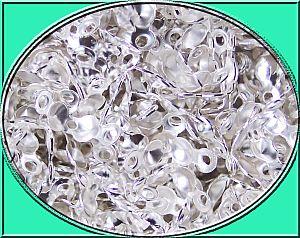 50 Metall Loop Fädelkalotten silberfarben 9 mm