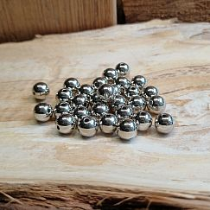 Kugelperlen 30 Spacer Perlen 8 mm Acryl Zwischenperlen silber
