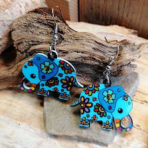 1 Set Ohrringe mit Anhänger Elefant 32 mm