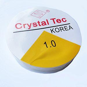 1 Rolle elastische Perlschnur Cryslall-Tec 1 mm 10 m