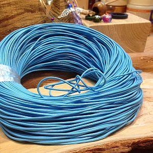 1 m Lederschnur Lederband 2 mm babyblau Lederschnüre